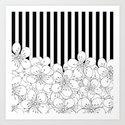 Cherry Blossom Stripes - In Memory of Mackenzie Art Print