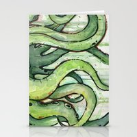 Cthulhu Green Tentacles Stationery Cards