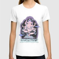 Long Lines Block the Path to Enlightenment Womens Fitted Tee White SMALL