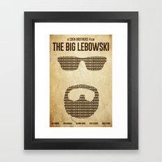White Russian - The Big Lebowski Poster Framed Art Print