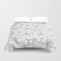 Cherry Blossom Mint Duvet Cover