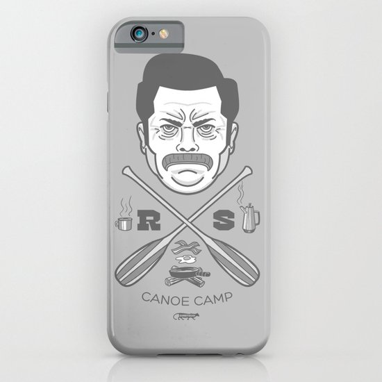 Ron Swanson Canoe Camp (clean gray variant) iPhone & iPod Case