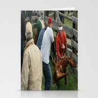 Cattle Branding Montana Rough Necks Stationery Cards