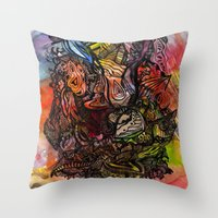 Watercolor Illusion  Throw Pillow