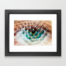 Green Eyes Hypnotize  Framed Art Print
