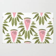 Watermelon and Leaves Rug