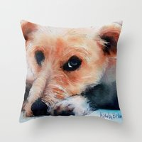 Toffee Dog Throw Pillow