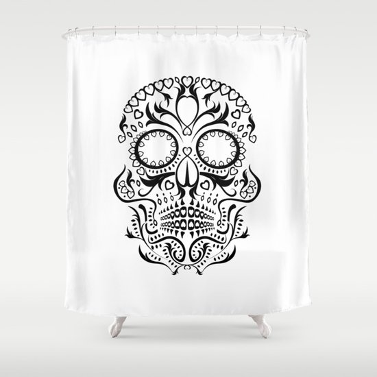Day of the Dead Skull No.26 Shower Curtain