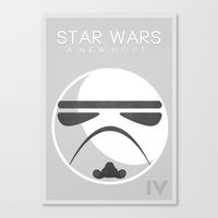 Star Wars IV: A New Hope Canvas Print