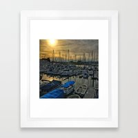 Sunset in Shoreline Framed Art Print