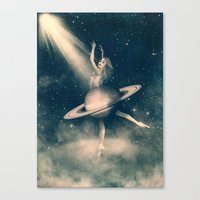When Saturn Starts Danci… Canvas Print