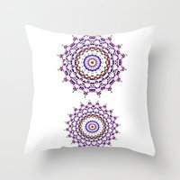 Star Mandala - JUSTART © Throw Pillow