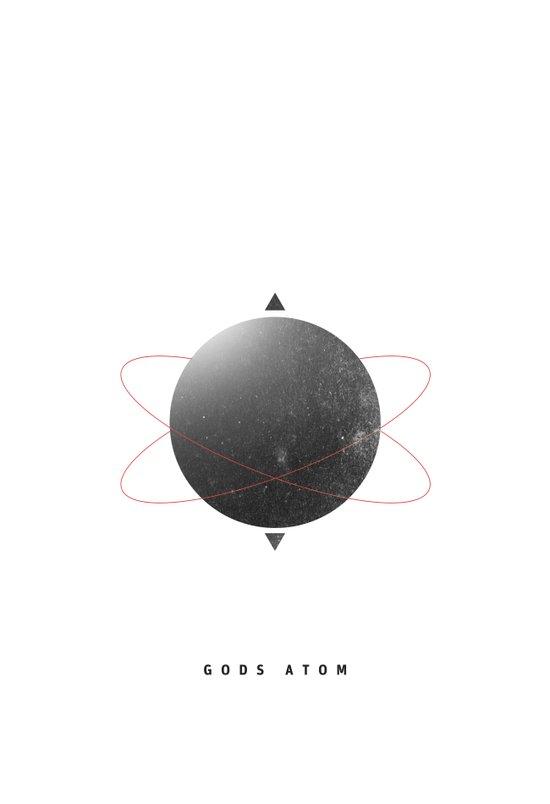 Gods Atom Art Print
