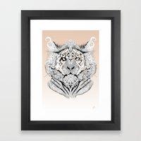 Tion Distinguished Framed Art Print