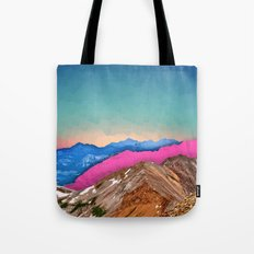 Color Band Mountains Tote Bag