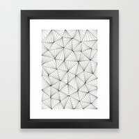 Stripe Triangles Framed Art Print