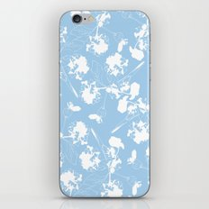 Hydranga pattern  - blue and white iPhone & iPod Skin