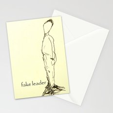 Fake leader Stationery Cards