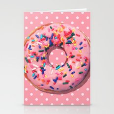 Pink Donut Stationery Cards