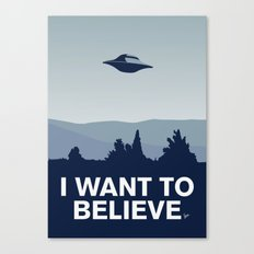 My X-files: I Want To Be… Canvas Print