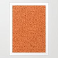 Spiral Pattern 1 Art Print