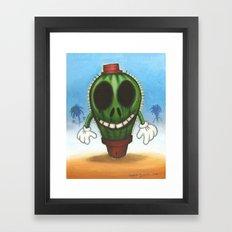 Cactus in freedom Framed Art Print