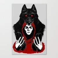 red ridin' hood Canvas Print