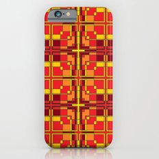 Red and Yellow Cross Pattern iPhone 6 Slim Case
