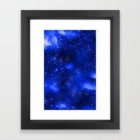 Galaxy Blue Framed Art Print
