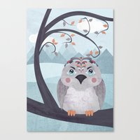 Whimsical Bird Canvas Print