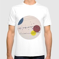 Chaos On The Wires Mens Fitted Tee White SMALL