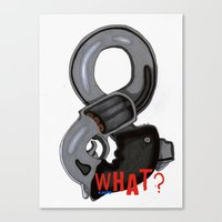 And What? Canvas Print
