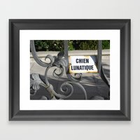 Crazy Dog (Chien Lunatiq… Framed Art Print