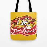 Team Fire Types Tote Bag