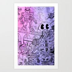 Funky Town pt. 1 Art Print