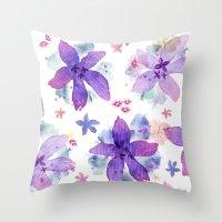 Flower bared Throw Pillow