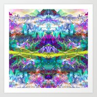 Crystal Mountains One Art Print