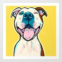 Pit Bull Smile Art Print