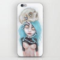 (Wearing Away) Blue iPhone & iPod Skin
