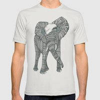 Humble elephant Mens Fitted Tee Silver SMALL
