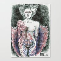 Stripper Figure Study Canvas Print
