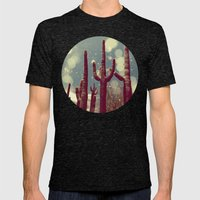 Space Cactus Mens Fitted Tee Tri-Black SMALL