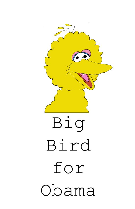 Big Bird for Obama!  Canvas Print