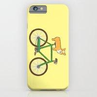 Corgi on a bike iPhone 6 Slim Case