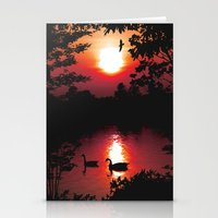 Swan Shine Stationery Cards