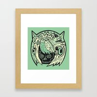 Bubble Head - Green Framed Art Print