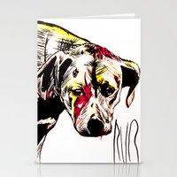 The Sadness Of Streetdog… Stationery Cards