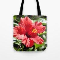 Hibiscus V Tote Bag