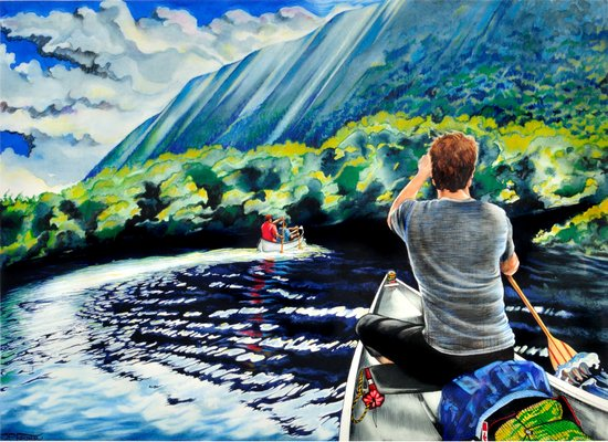 Chris+Canoe+Pilly=YES Art Print
