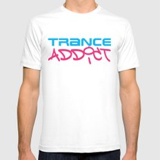 Trance Addict Music Quote Mens Fitted Tee White SMALL